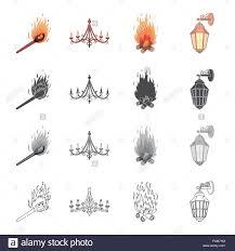Brennendes Streichholz Kronleuchter Licht Aus Dem Feuer