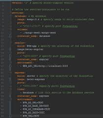 environment variables in docker pose