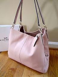 Coach F35723 Leather Phoebe Shoulder Bag Peach Rose Tote Purse Handbag NWT  NEW
