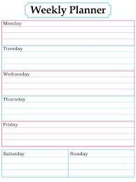 Weekly Homework Planner Free Weekly Homework Calendar Template Assignment Schedule