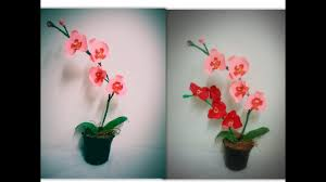 Paper Orchid Flower Diy Paper Orchids Youtube