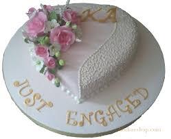 Heart Shaped Just Engaged Engagement Cake 2k Sri Lanka Online