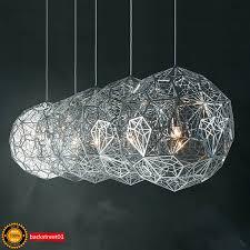 details about new tom dixon etch web led pendant light lamp chandelier ceiling light diamond