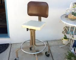 office drafting chair. industrial office chair rolling drafting stool retro tall swivel desk midcentury metal propeller vintage