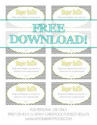 Tickets Diapers - Diaper Invitations Shower Download Raffle Baby Free