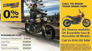 0 finance now available on the ducati scrambler icon and