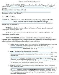 Free Residential Lease Agreement Template A Document Word Ireland ...