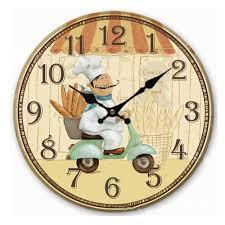Retro Kitchen Wall Clocks Aliexpresscom Buy Retro Vintage Italian Chef Wood Wall Clock