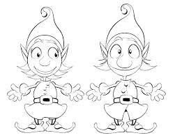 The Elf On The Shelf Coloring Pages Elf On The Shelf Color Pages Elf