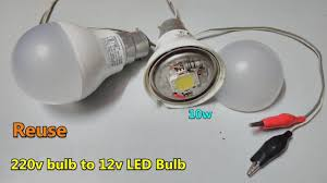 110 Volt Led Work Lights Reuse Fused Ac Led Bulb To 12v Dc 10w Led Bulb Directly Battery Connector