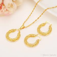 gold necklace pendant earrings set eritrea jpg