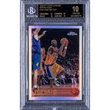 Jun 05, 2021 · 1996 topps # 138 kobe bryant rc rookie card psa 8.5 la lakers black mamba $1,527.83 $1,608.24 previous price $1,608.24 5% off 5% off previous price $1,608.24 5% off Kobe Rookie Card Nets Over 1 7 Million Other Records Set In Goldin Sale