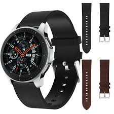 susenstone replacement leather watch bracelet strap band for samsung galaxy watch 46mm male clock reloj hombre high quality watch bands quality watch bands