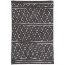 fusion dark gray 2 ft x 3 ft trellis rectangle accent rug