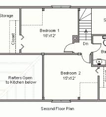 Small Picture Simple House Plan With 2 Bedrooms House Floor Plans Small Two