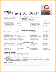 Resume Examples For Actors Actors Resume Sample Access Professional Acting Examples Samples