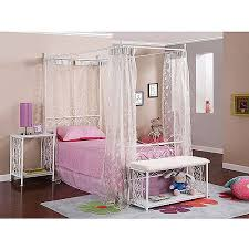 Standard Furniture Princess Canopy Bed in Pink Metal - Twin  traditional-kids-beds