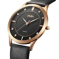 casual couple quartz watch waterproof simple dial waist watch leather watch for women men is worth ing newchic