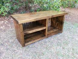 Rustic Furniture Stain Rustic Entryway Bench