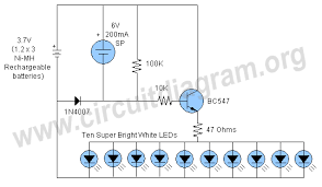 automatic solar garden light circuit diagram automatic solar garden light circuit schematic