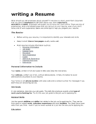 What To Put On A Resume For Skills What To Put In A Resume For A Job RESUME 20