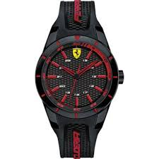 buy scuderia ferrari men s red rev watch 0840004 at j herron son scuderia ferrari men s red rev watch 0840004