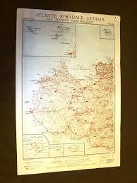Dettagli Su Carta Geografica O Mappa Trapani Sciacca Lampedusa Touring Club Italiano 1922