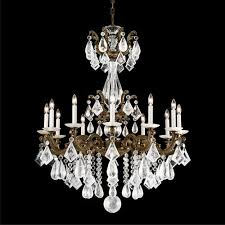 schonbek 5411 la scala 12lt rock crystal chandelier