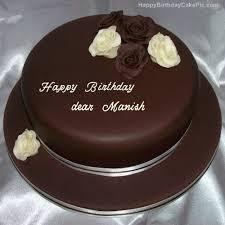 Rose Chocolate Birthday Cake For Dear Manish