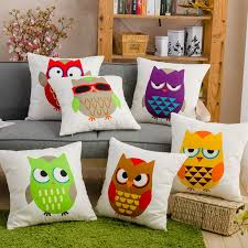 Small Picture Aliexpresscom Buy Canvas Decorative Pillows Printed Owl