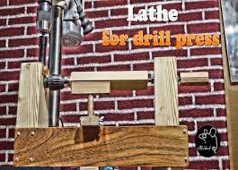 picture of homemade lathe for drill press