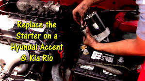 2011 hyundai accent engine wiring diagram how to replace a starter 2011 hyundai accent engine wiring diagram how to replace a starter on kia rio by