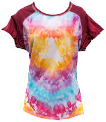 Tie Dye Heart Design Tie Dye Psychedelic T Shirt With Heart Design Womens L Xl