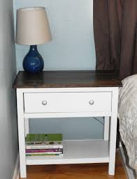 Small Bedroom Tables Bedside Tables Trysil Bedside Table White Light Grey Width 45 Cm