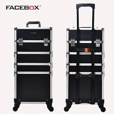 aluminum facebox 4 in 1 beauty case with tray professiona makeup box nail