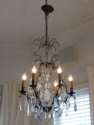 antique french crystal and amethyst chandelier c 1900 1920