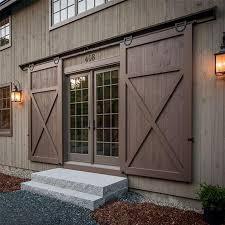 horseshoe u shaped modern barn wood interior double sliding door hardware roller closet track set