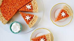 thanksgiving rice krispie treats. Interesting Thanksgiving Thanksgiving Dessert Pumpkin Pie Rice Krispies Treats To Krispie I