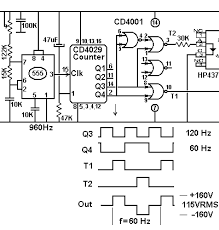 frequency converter hz to hz design frequency converter control section circuit