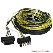 boat trailer lights reflectors wiring harnesses great lakes peterson e5525y universal 25 ft boat trailer split harness