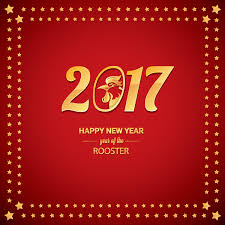 rooster new year border 2017 chinese new year of rooster with stars frame vector 06