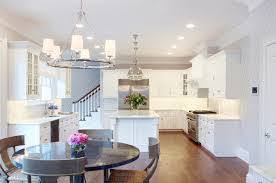 Lights In The Kitchen Design Dilemma Coordinating Kitchen Island And Breakfast Nook