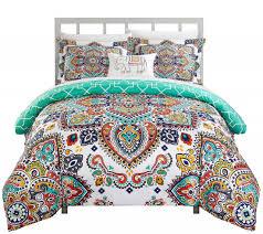 Bedroom Sets Queen Qvc Chic Home Griff Queen 4 Piece Duvet Cover Set ...