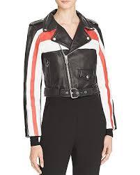 multi color leather biker jacket