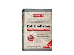 Terms in this set (20). Bausys Estrichbeton C25 30 40 Kg Kornung 0 8 Mm Ca Bauking Webshop Fertigmortel