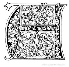 Illuminated Letter Templates Free Illuminated Letters Coloring Pages