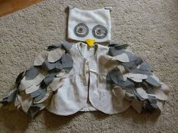 cute toddler owl costume made from an old jacket of mine