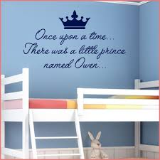 personalised prince wall sticker once upon a time decals on personalised baby wall art uk with personalised prince wall sticker once upon a time decals