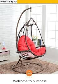 bird nest chair outdoor indoor wicker hanging swing big round