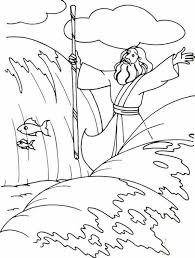 Small Picture Moses Divide the Red Sea with His Stick Coloring Page Color Luna